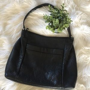 Kate Spade • Black Pebble Leather Hobo Bag
